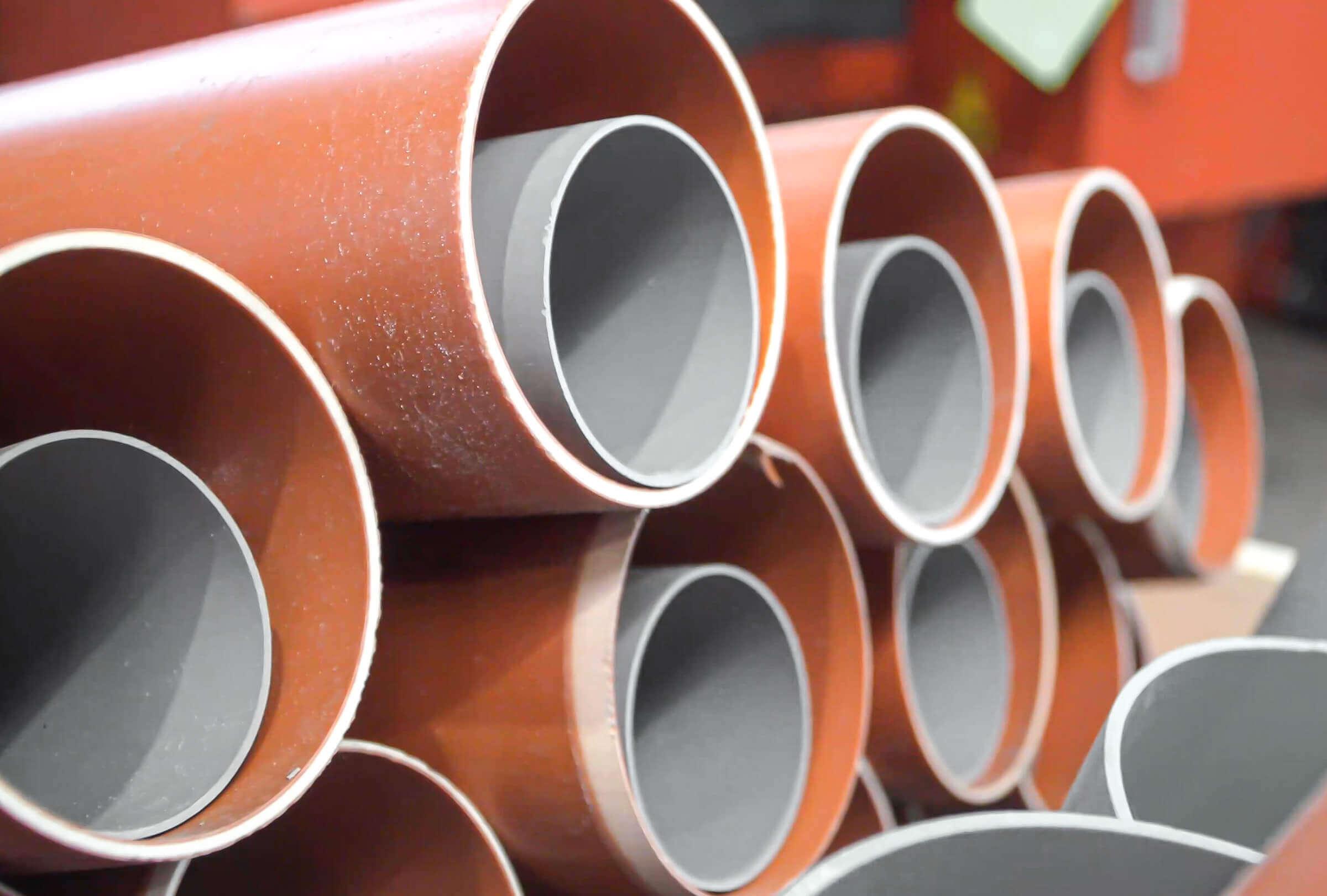Polyvinyl chloride plastic pipe storage