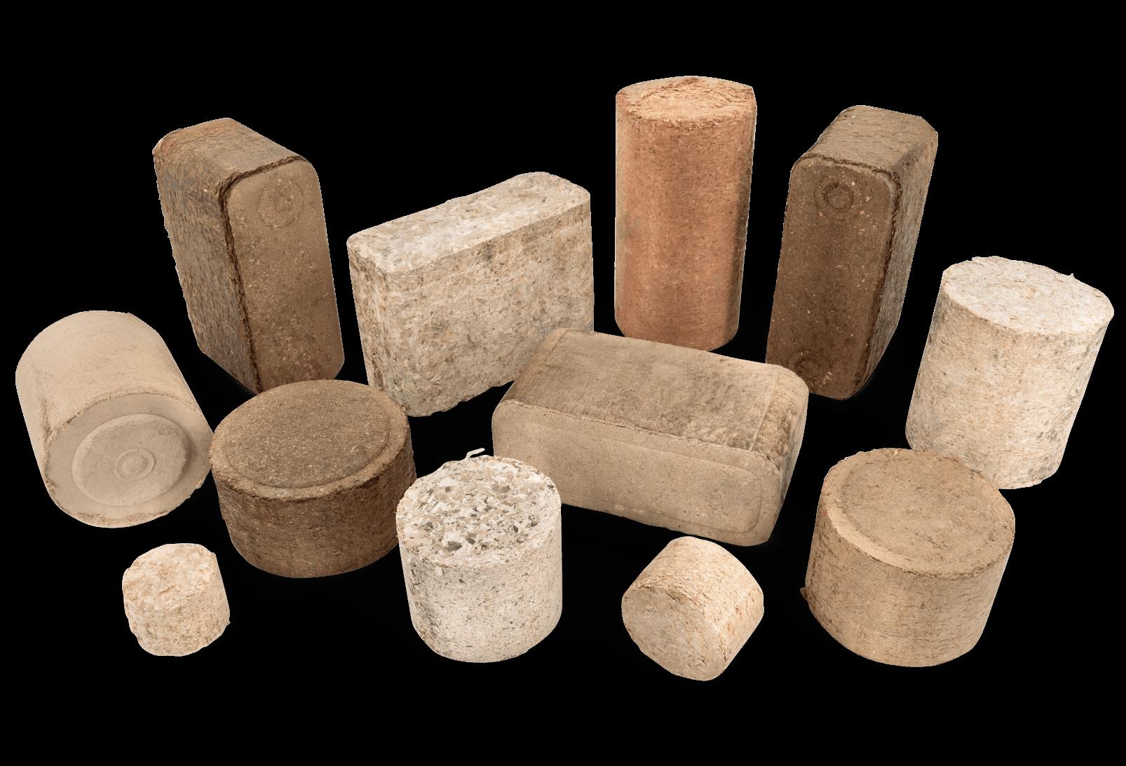 WEIMA wood briquettes round and rectangular